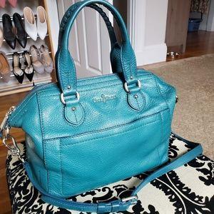 CH Turquoise pebble leather handbag